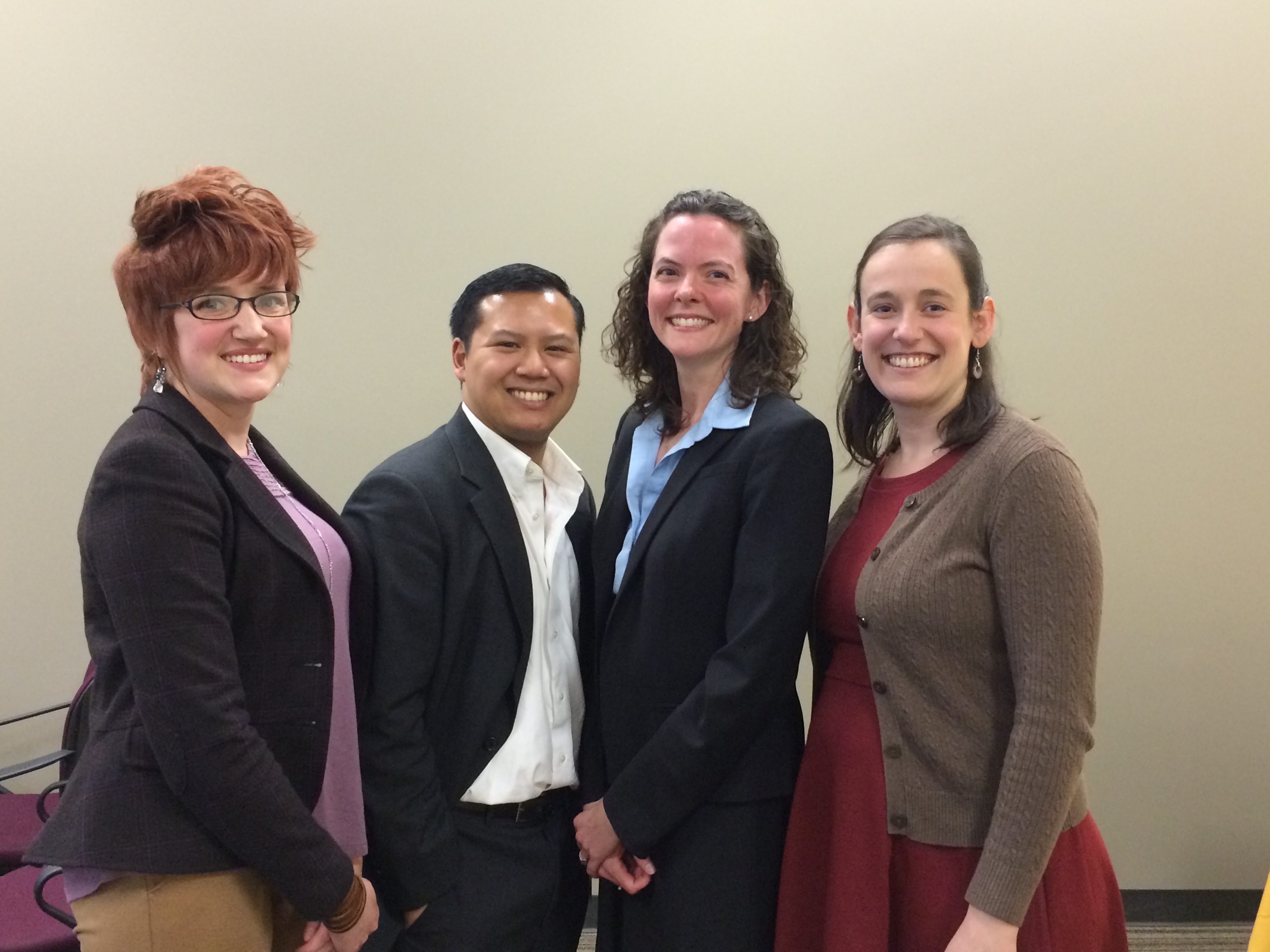 Winners of the 2016 3MT Maryland Competition: Ken Estrellas and Alexandra Pucsek