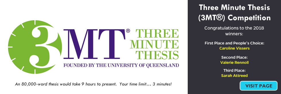 Three Minute Thesis (3MT®) Competition.