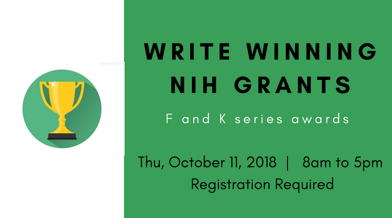 Grant Writing - Oct 11, 2018, 8am to 5pm, Registration Required